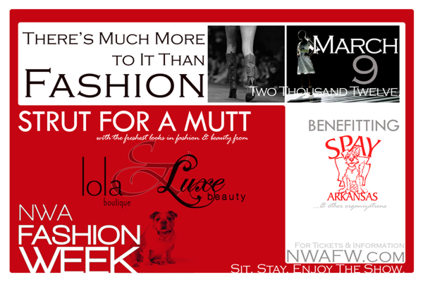 NWAFW Strut For A Mutt Benefit Event Promotional Postcard